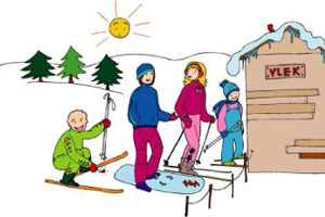 1. Ohled na ostatní lyžaře